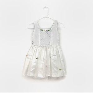 kids white popatu flower dress